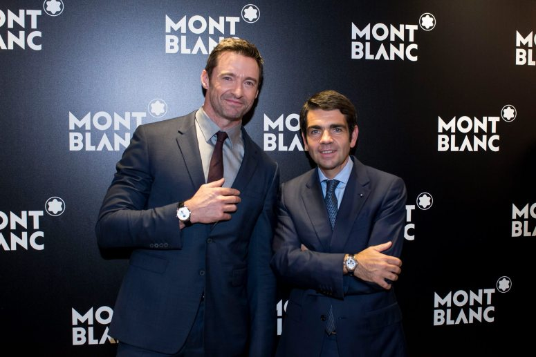 Montblanc Brand Ambassador Hugh Jackman and Montblanc CEO Jérôme Lambert