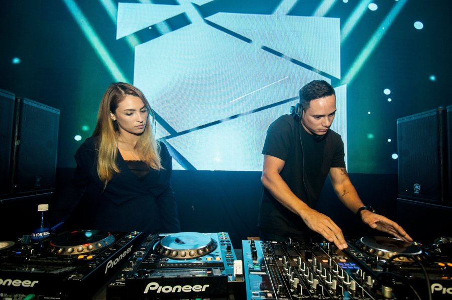 Patricia K and Joey G on the decks (photo courtesy of Martell Malaysia)